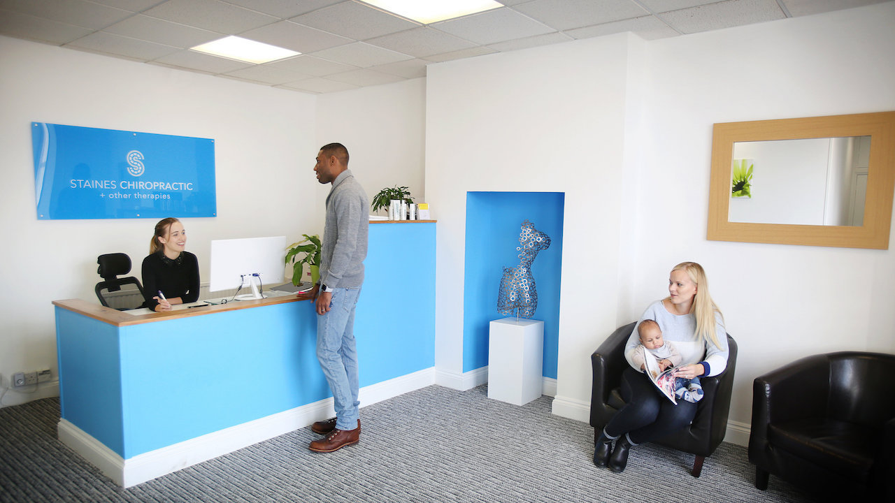 Staines Chiropractic Clinic Reception